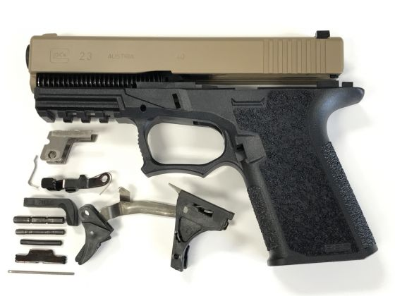Glock 23 .40mm Complete Build Kit With 80% Frame FDE   US Patriot Armory