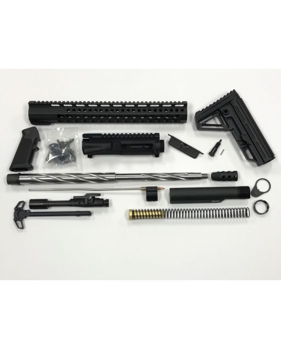 "AR-15 18"" Stainless Steel Barrel 15"" KEYMOD RAIL COMPLETE RIFLE BUILD KIT"