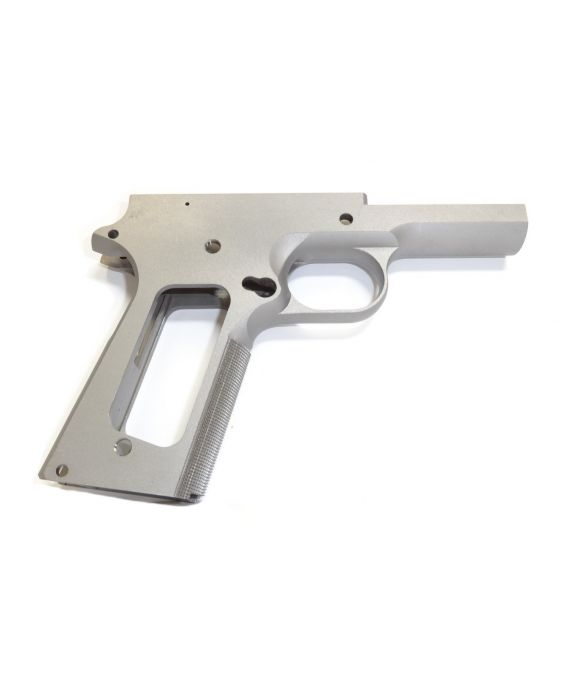 1911 80% FULL SIZE GOVERNMENT FRAME 416R STAINLESS STEEL WITH GRIP CHECKERING GRIP FOR NON RAMPED BARRELS
