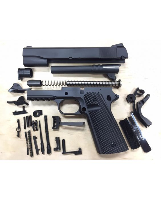Beautiful 1911 TACTICAL 80% BUILDERS KIT BLACK YOUR CHOICE .45 ACP OR 9MM