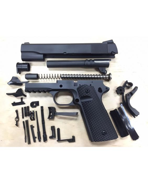 1911 CAL 40 S&W TACTICAL 80% BUILDERS KIT BLACK
