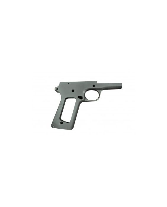 1911 80% .45 ACP Black Compact Commander Size Frame in Series 70 Forged 4140 Steel
