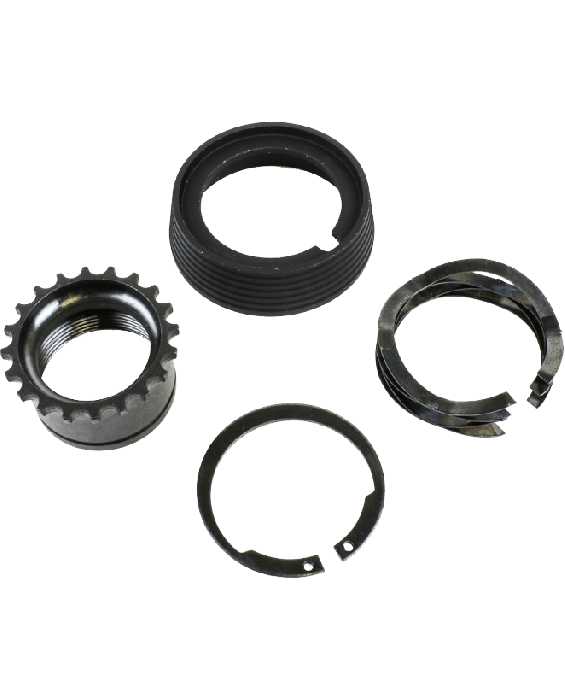 Barrel Nut Kit for A2 style. This kit includes Delta Ring, Snap Ring, A2 Barrel Nut and Weldon Spring.