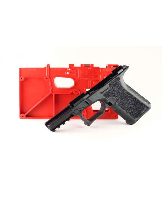 Polymer80 PF940C Compact 80% Pistol Lower Frame Rough Textured - BLACK 19, 23, 32. COMES WITH FREE MAGPUL G19 PMAG MAGAZINE 10rd BLACK