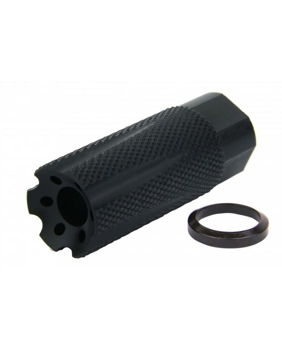 ".308, AR-10, 300 Black-Out Nurlon 5/8""x24 TPI Muzzle Brake Black Nitride"