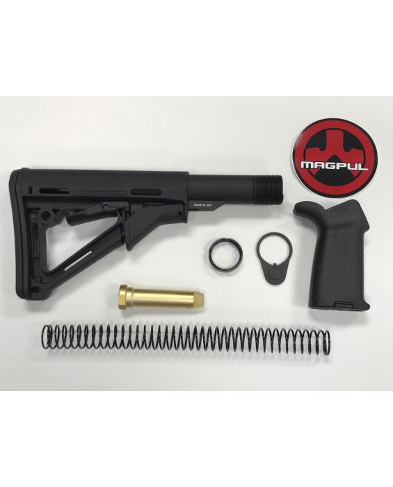 AR-15 Magpul CTR Moe Black Stock Kit & Moe Plus Black Grip