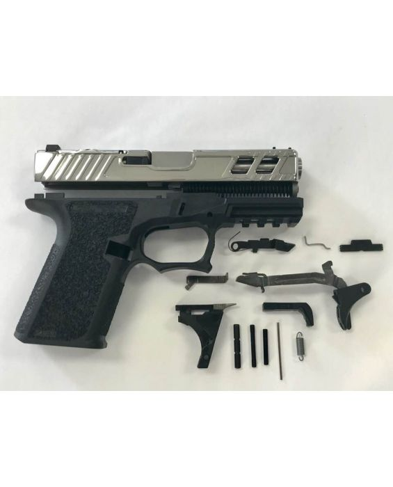 High End Glock 19 kit with Tin Titanium Nitride Polished Slide