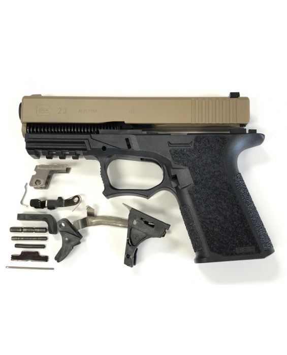 Glock 23 40cal Complete Build Kit With 80% Frame FDE
