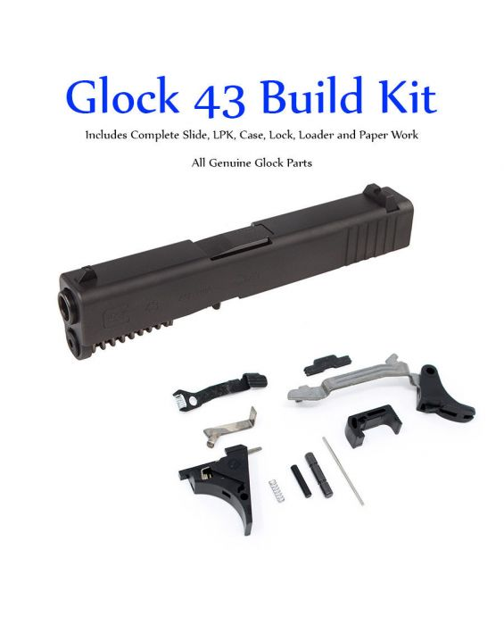 SS80 GLOCK 43 SINGLE STACK 9mm SLIDE & LOWER PARTS KIT