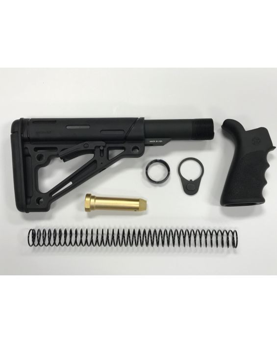 AR-15 Hogue Black Mil-Spec Stock Kit & Black Hogue Grip