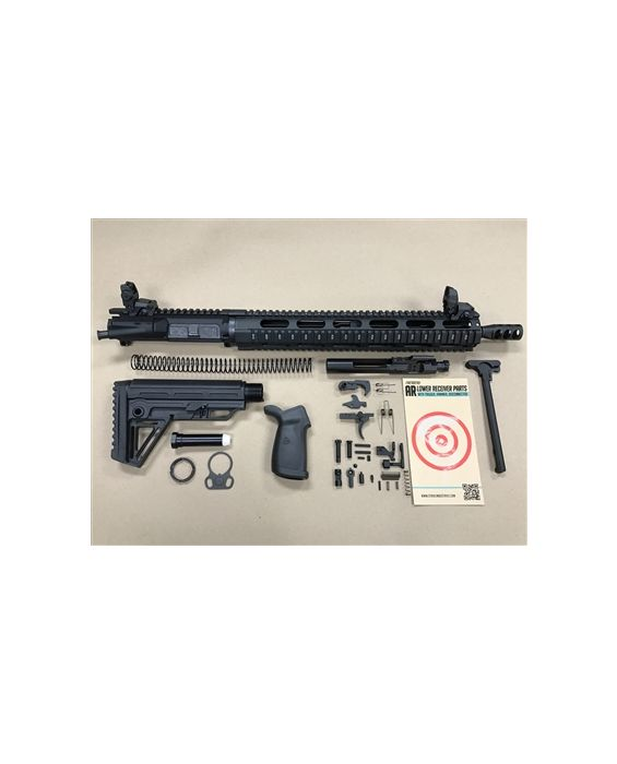 "JIGSAW PRO... AR-15 5.56 1/8 TWIST 15"" QUAD RAIL RIFLE KIT, Comes With Flip-Up-Sights, BCG & Charging Handle...."