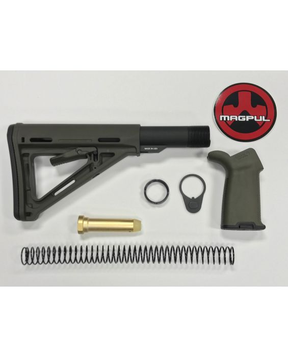AR-15 Magpul Moe OD Green Stock Kit & Moe Plus OD Green Grip