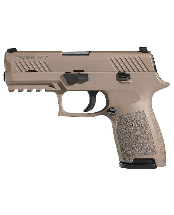 "80% SIG SAUER P320 FDE COMPACT DOUBLE 9MM LUGER 3.9"" BUILDERS KIT 1 Mag"