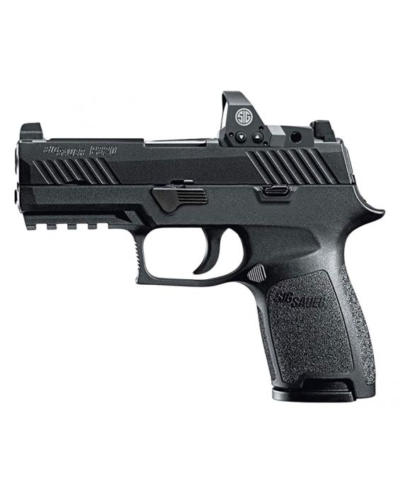 """80% Sig Sauer P320 Compact RX Double 9mm Luger 3.9"""" With Sig Romeo1 Red Dot"""