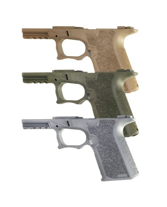 POLYMER80 PF940C COMPACT 80% PISTOL LOWER FRAME ROUGH TEXTURED FDE, FLAT DARK EARTH, TACTICAL GRAY, OLIVE DRAB. COMES WITH 2 FREE MAGPUL G19 PMAG MAGAZINE 10RD BLACK