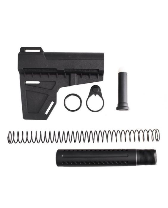 AR-15 .223 / 5.56 Shock Wave Blade with Custom Pistol Buffer Tube Kit