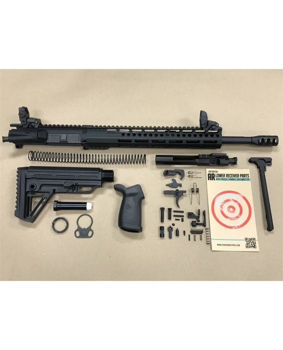 "PATRIOT STORM AR-15 5.56 12"" M-LOCK RIFLE KIT WITH FLIP UP SIGHTS, BCG & CH"