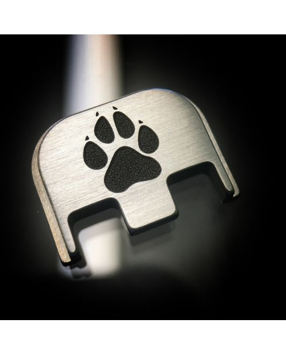 Titanium Dog Paw Back Plate