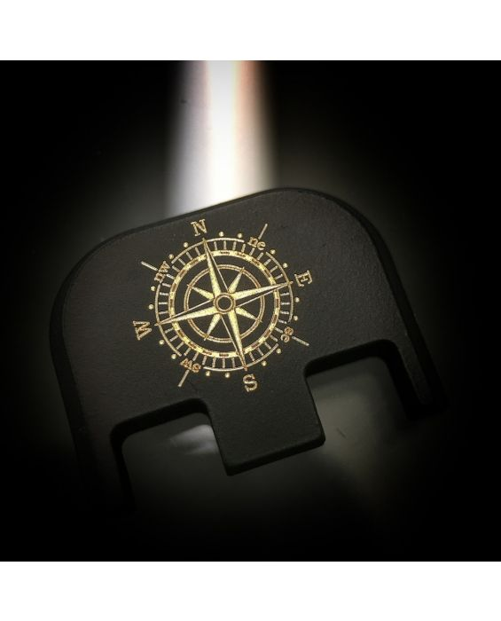 Black Cerakoted Titanium Gold: Compass