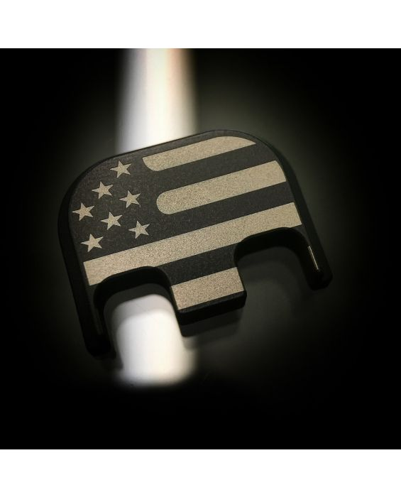 Black Cerakote Stainless Steel Traditional American Flag